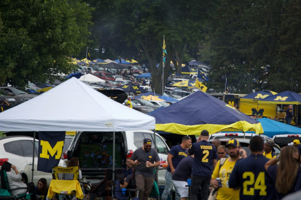 Michigan Wolverine tailgating