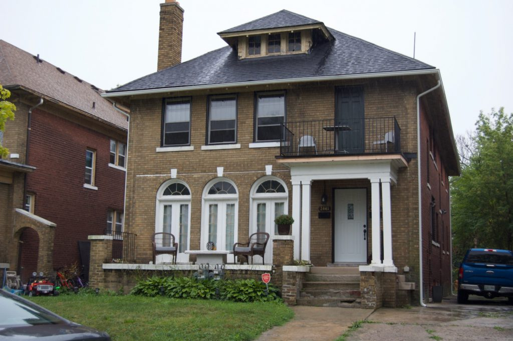 Restored house in Detroit, Michigan