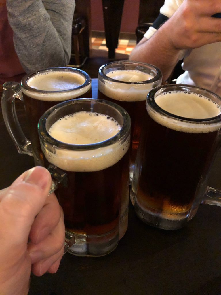 Pints of Alaskan Amber Ale on Draft