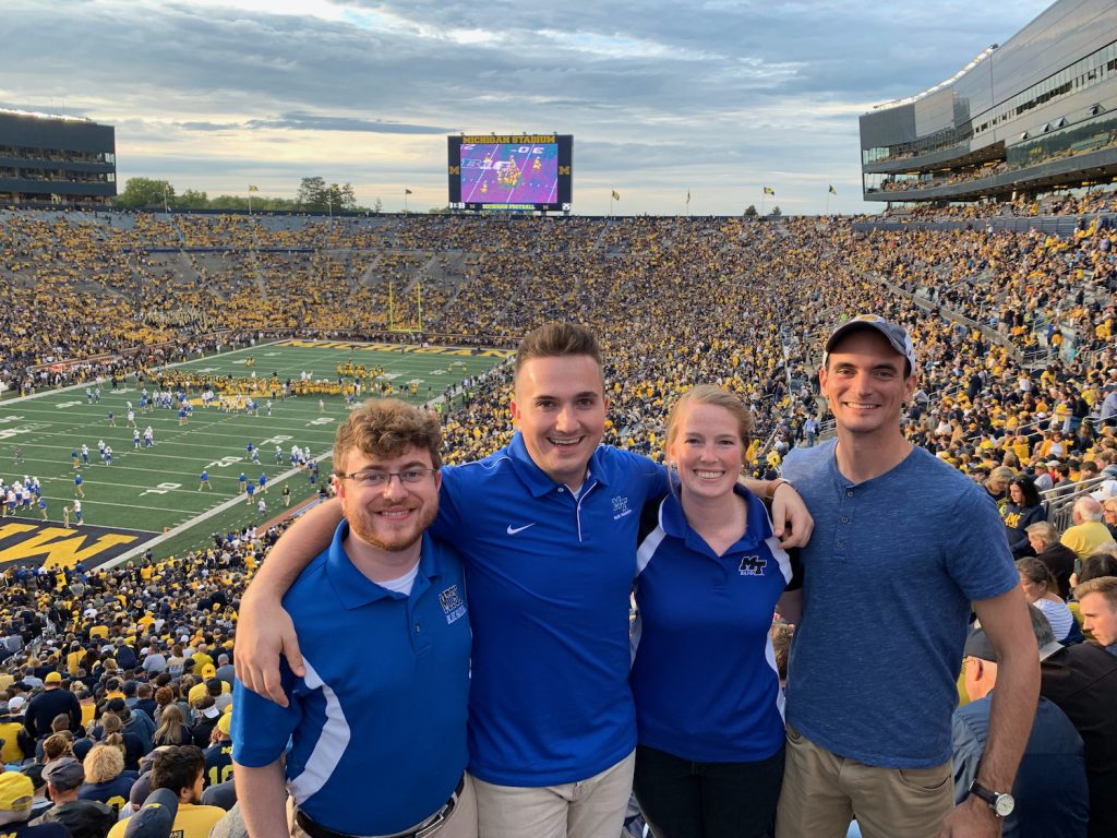 Fans in Michigan Stadium, Middle Tennessee Blue Raiders at Michigan Wolverines